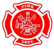 Fire Dept Shield Decal Sticker