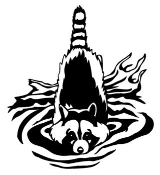 Raccoon Swim Decal Sticker