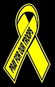 Pray For Our Troops Ribbon Decal Sticker
