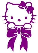 Hello Kitty 4 Decal Sticker