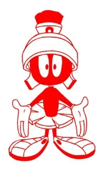 Marvin the Martian v2 Decal Sticker