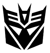 Transformers Decepticon 1 Decal Sticker