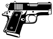 Handgun v4 Decal Sticker