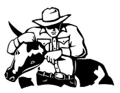Steer Wrestler Decal Sticker