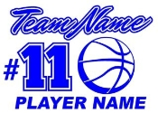 Personalized Basketball v2 Decal Sticker