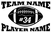 Personalized Football v2 Decal Sticker