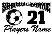 Personalized Soccer 2 Decal Sticker