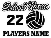 Personalized Volleyball v3 Decal Sticker