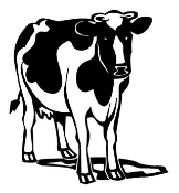Cow v2 Decal Sticker