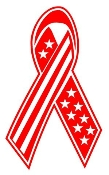 Patriotic Ribbon 1 Decal Sticker