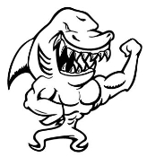 Shark Muscles Decal Sticker