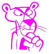 Pink Panther v3 Decal Sticker