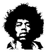 Jimmy Hendrix Decal Sticker