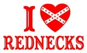 I Love Rednecks Decal Sticker