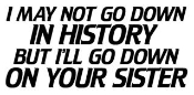 I May Not Go Down In History Decal Sticker