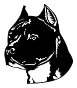 American Staffordshire Terrier Head Decal Sticker