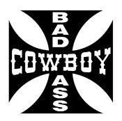 Bad Ass Cowboy Decal Sticker