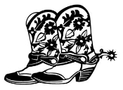 Cowboy Boots v2 Decal Sticker