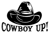 Cowboy Up with Hat Decal Sticker
