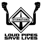 International Diesel Loud Pipes Save Lives Decal Sticker