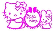 Hello Kitty 5 Decal Sticker