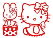 Hello Kitty 6 Decal Sticker