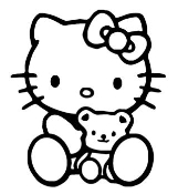 Hello Kitty 7 Decal Sticker