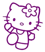 Hello Kitty 8 Decal Sticker