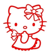 Hello Kitty 9 Decal Sticker