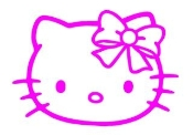 Hello Kitty 12 Decal Sticker