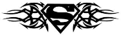Superman Tribal Decal Sticker