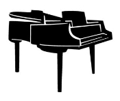Piano Decal Sticker