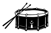 Snare Drum Decal Sticker