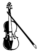 Violin Decal Sticker