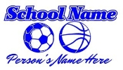 Personalized Soccer-Basketball Decal Sticker