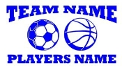 Personalized Soccer-Basketball 2 Decal Sticker