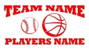 Personalized Baseball-Basketball 2 Decal Sticker