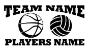 Personalized Basketball-Volleyball 2 Decal Sticker