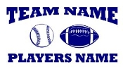 Personalized Baseball-Football 2 Decal Sticker