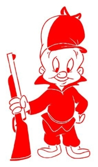 Elmer Fudd v2 Decal Sticker
