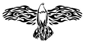 Flamming Eagle Decal Sticker