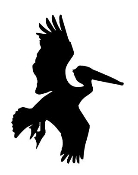 Stork Silhouette Decal Sticker