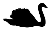 Swan Silhouette Decal Sticker