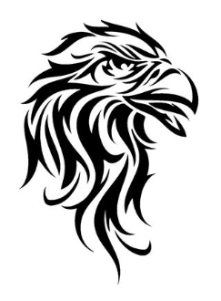 how to draw a cool tribal eagle drago art