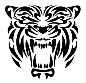 Tribal Tiger Head Decal Sticker