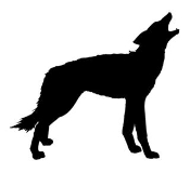 Wolf Silhouette v2 Decal Sticker