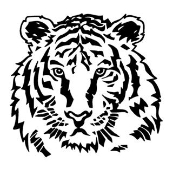Tiger Head v4 Decal Sticker