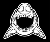 Shark v8 Decal Sticker