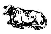 Cow v6 Decal Sticker