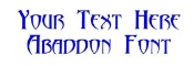 Abaddon Font Decal Sticker